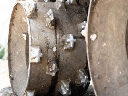 Iron Wheel of a Specialized Waste Handling Machine - Landfills