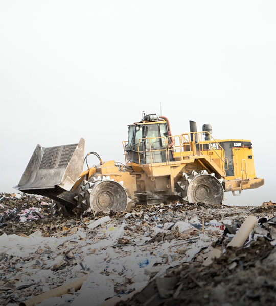 Cat® 836h In Action At Landfill Site