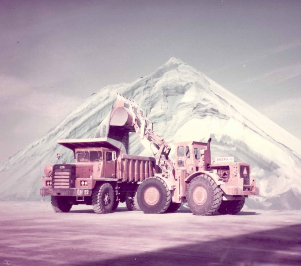 Unloading Material Onto Dump Truck Back In The Day