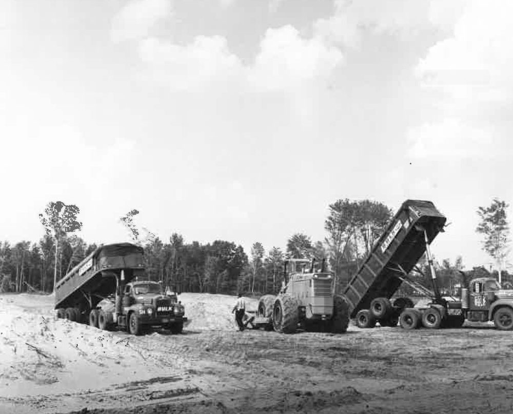 Handling Material & Managing Site Prep Jobs Back In The Day