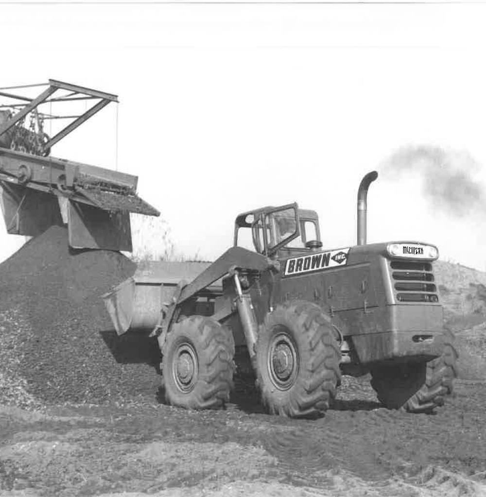 One Of Brown's Dozer's Moving Material At Job Site Back In The Day
