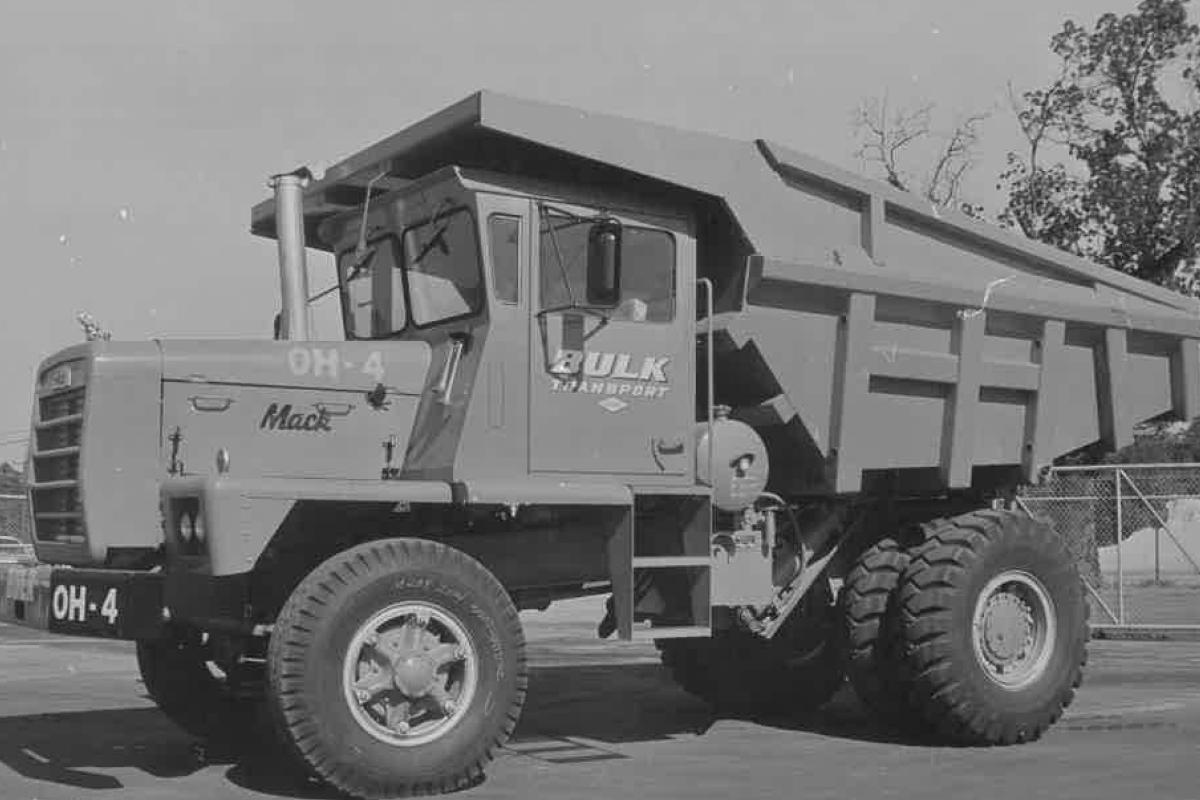 Bulk Transport Dump Truck Back In The Day