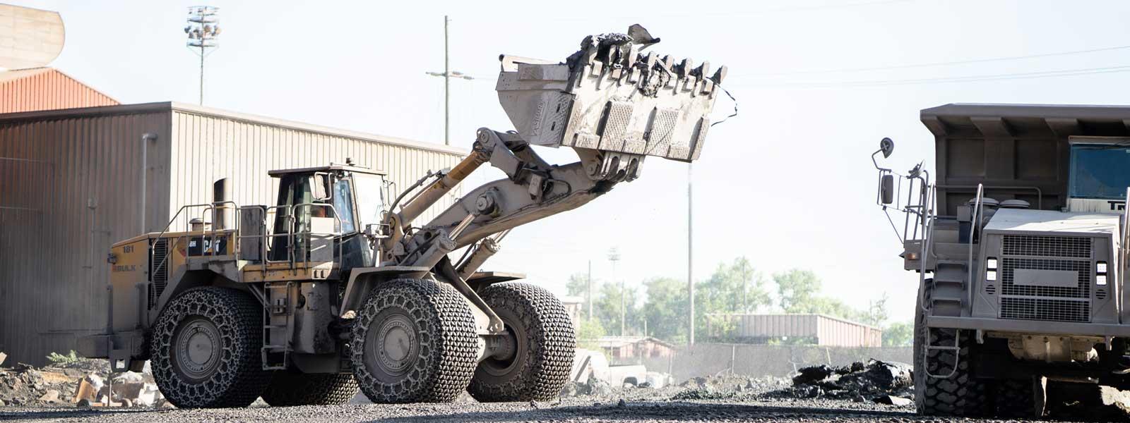 Steel Mill Application Front-end Loader At Job Site
