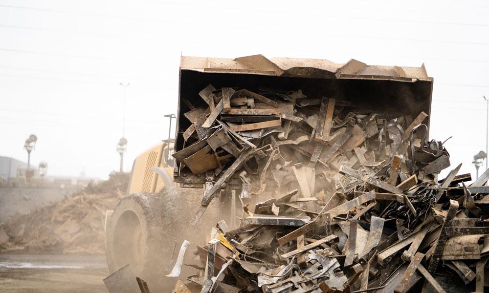 Heavy Equipment Handling Scrap Recycling Material