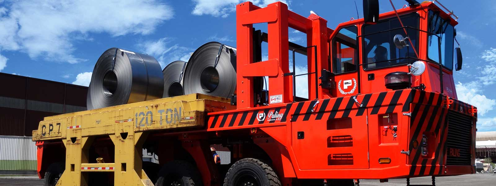 Bright Red Transporter Also Known As Continuous Transport System